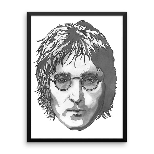 JL Framed Poster Illustrated by Robert Bowen - Robert Bowen Tees