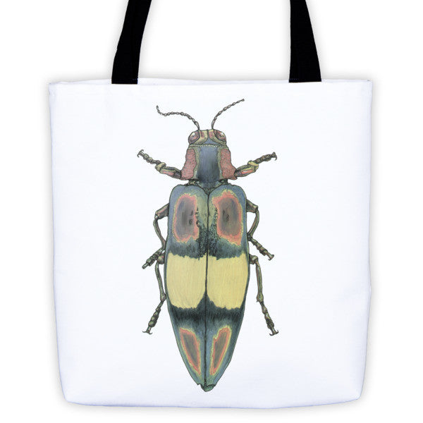 Coloured Beetle Tote Bag by Robert Bowen - Robert Bowen Tees