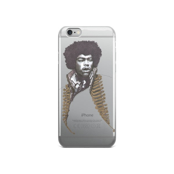 Jimi Hendrix by Robert Bowen iPhone case - Robert Bowen Tees