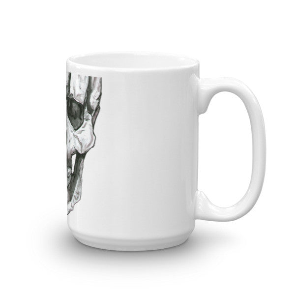 Skull Scapel Black Ink by Robert Bowen Mug - Robert Bowen Tees