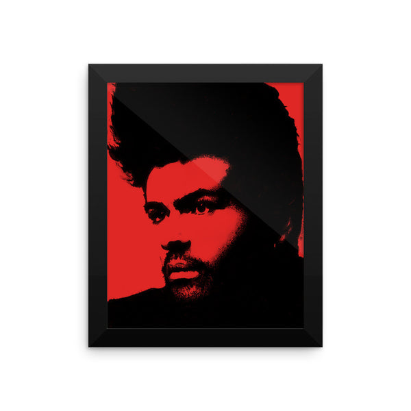 GM Red Framed Poster by Robert Bowen - Robert Bowen Tees
