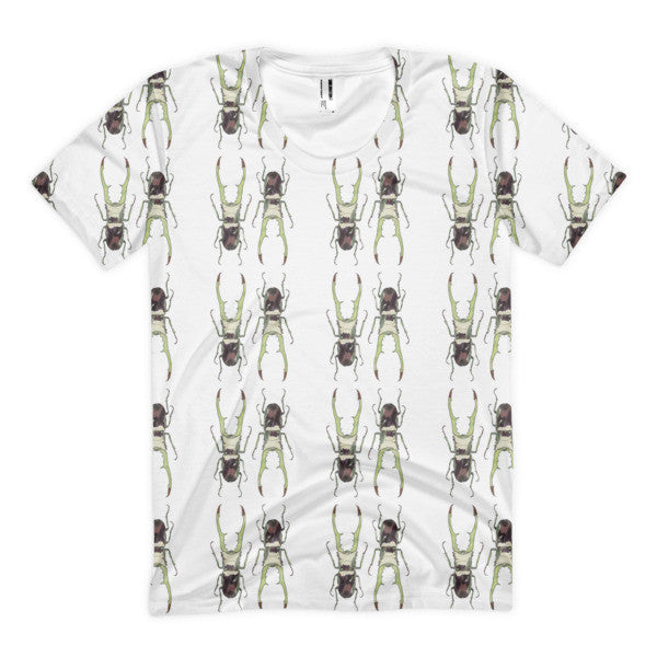 Stag Beetles Opposites Pattern by Robert Bowen Women's Sublimation T-Shirt - Robert Bowen Tees