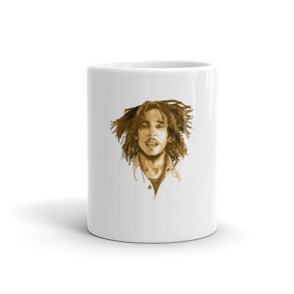 Bob Marley Brown Ink by Robert Bowen Mug - Robert Bowen Tees