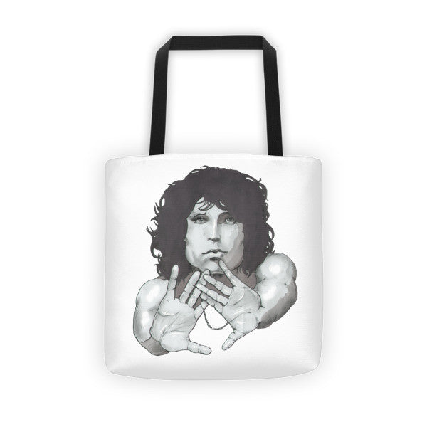 Jim Morrison by Robert Bowen Tote Bag - Robert Bowen Tees
