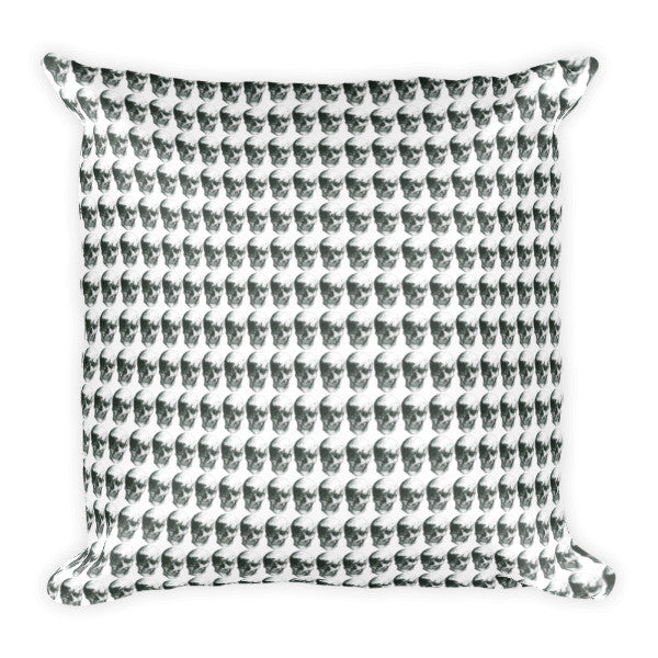 Skulls Repeat Cushion by Robert Bowen - Robert Bowen Tees