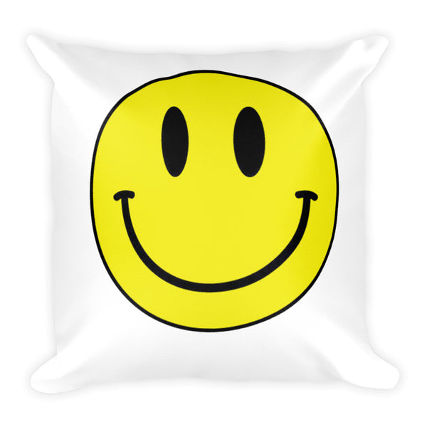 Acid Smiley Face Square Cushion - Robert Bowen Tees
