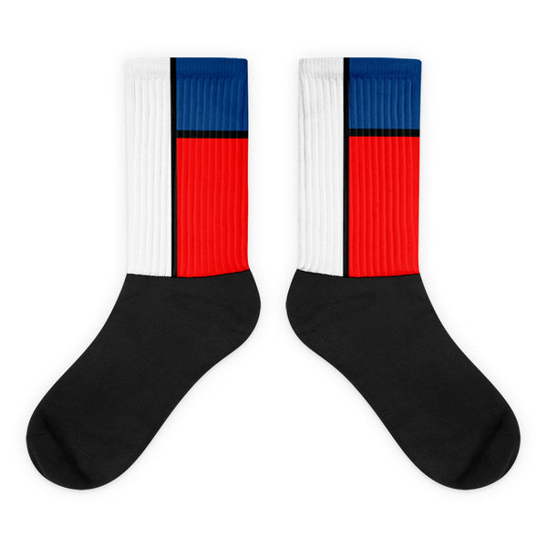 Block Colours Two Black foot socks by Robert Bowen - Robert Bowen Tees