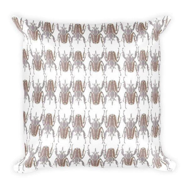 Brown Beetles Opposites Cushion - Robert Bowen Tees