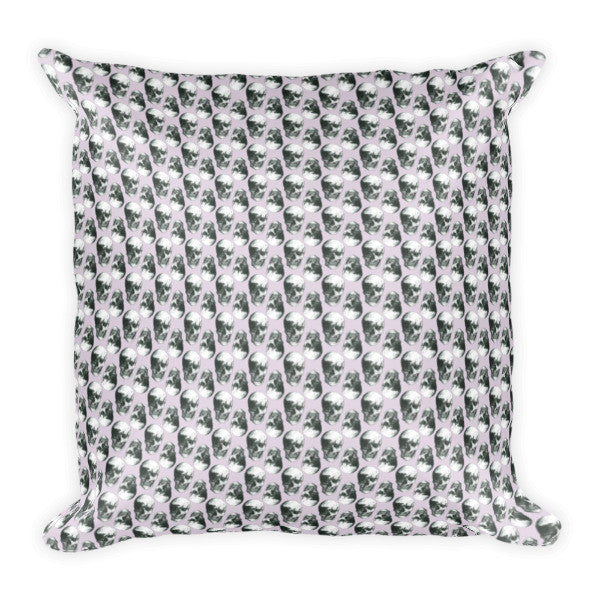 Skulls Retro Pattern by Robert Bowen Cushion - Robert Bowen Tees