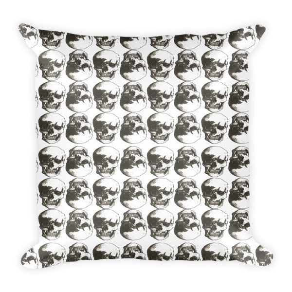Polka Skulls White & Black Cushion by Robert Bowen - Robert Bowen Tees