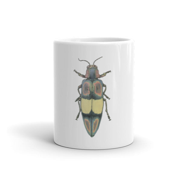 Coloured Beetle Mug by Robert Bowen - Robert Bowen Tees