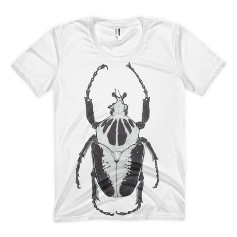 Black & White Beetle by Robert Bowen Women's Sublimation T-Shirt - Robert Bowen Tees