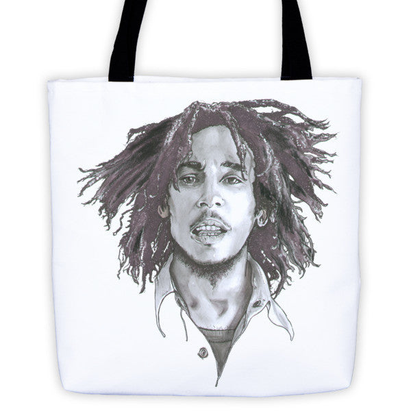 Bob Marley The Legend Black Ink Tote Bag - Robert Bowen Tees