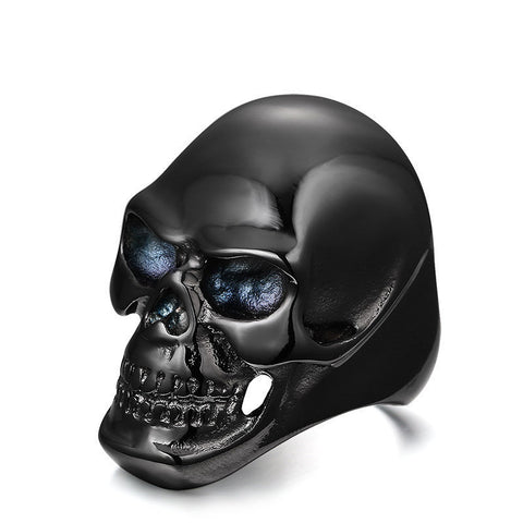 Men Designer's Skull Stainless Steel Ring - Robert Bowen Tees