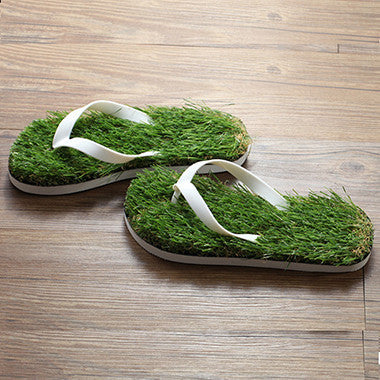 Men's Artificial Grass Flip Flops - Robert Bowen Tees