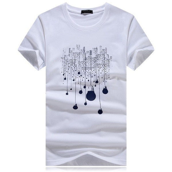 Men's City Bulb Lights Multi-Print Tee - Robert Bowen Tees