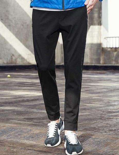 Men Designer's Weathered Effect Sports Pants