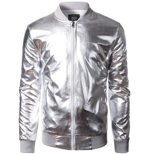 Men's Metallic Slim Fit Bomber Jacket - Robert Bowen Tees