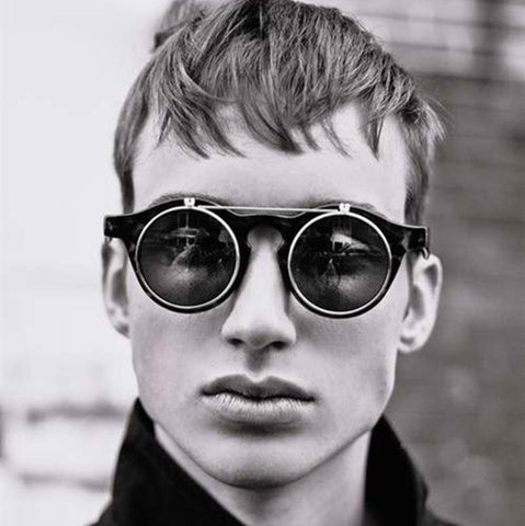 Men's Round Retro Steampunk Double Layers Sunglasses - Robert Bowen Tees