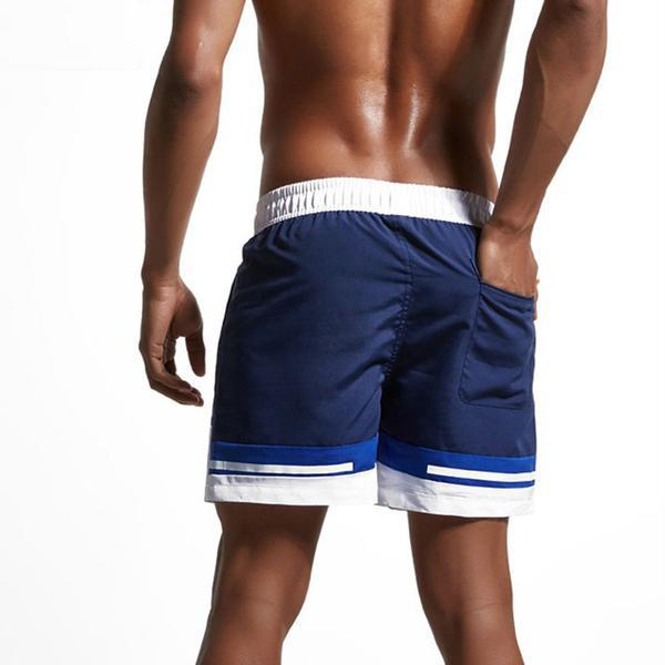 Men's Breathable Contrast Board Shorts - Robert Bowen Tees