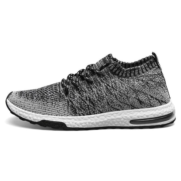 Men Breathable Mesh Trainers with Rib Binding
