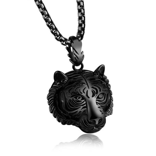 Unisex Lion's Head Pendant Stainless Steel Chain - Robert Bowen Tees