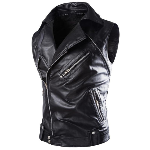 Men's Detachable Sleeves Biker's Jacket - Robert Bowen Tees