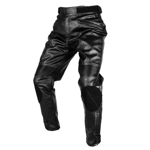 Men Designers Sports Motorcycle PU Leather Trousers - Robert Bowen Tees