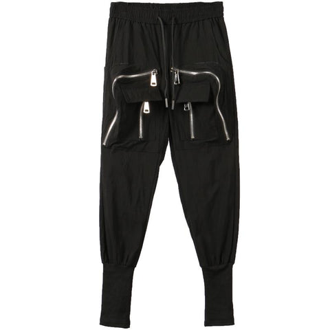 Men Designer's Zipper Layers Pants - Robert Bowen Tees