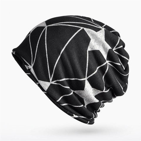 Men's Knitted Star Pattern Windproof Skullies Beanies/Turban - Robert Bowen Tees