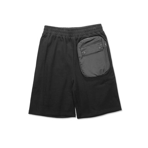 Men Designer's Shorts with Patchwork Zip Pocket