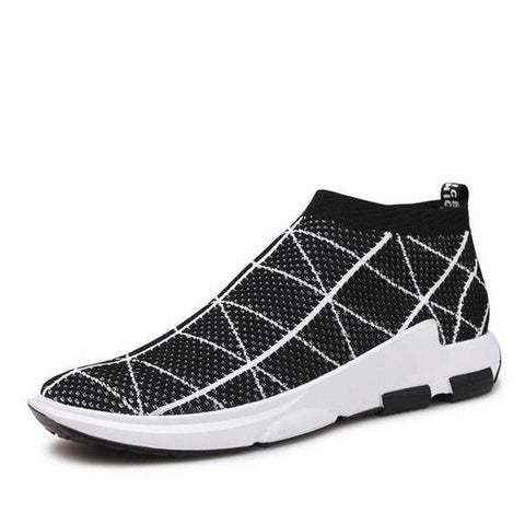 Men's Knitted Fly Weaving Breathable Sports Style Sneakers - Robert Bowen Tees
