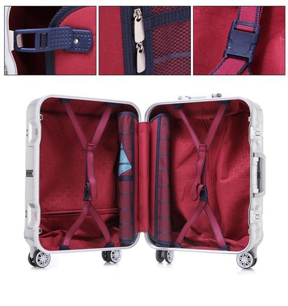 Aluminum Frame Brushed Travel Luggage Box - Robert Bowen Tees