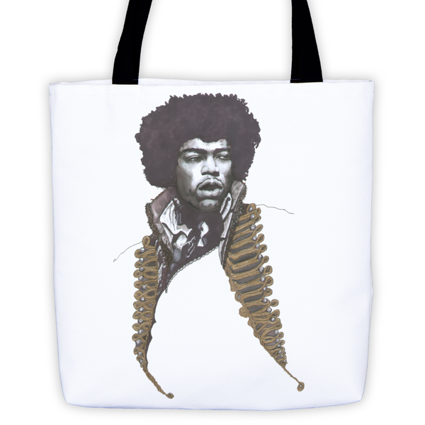 Jimi Hendrix The Legend Tote Bag - Robert Bowen Tees