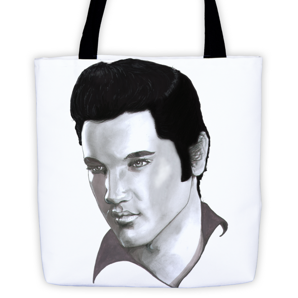 Elvis Presley The Legend Black Ink Tote Bag - Robert Bowen Tees