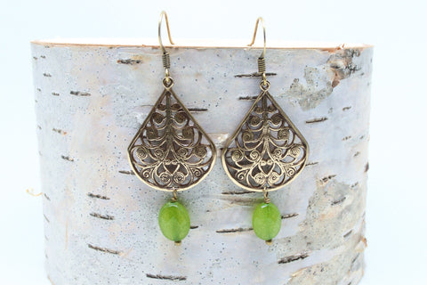 Filigree Jade Earrings