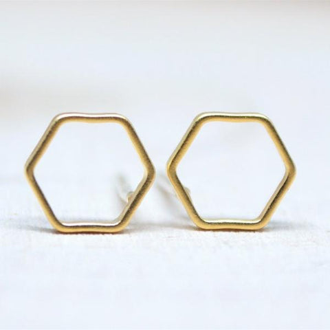🆕Gold Hexagon Earrings