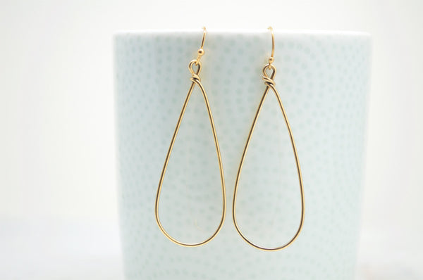 Teardrop Hoop Gold Earrings