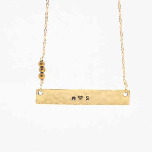 Couples Bar Necklace by Olive Bella.  Shop now: https://olivebella.com