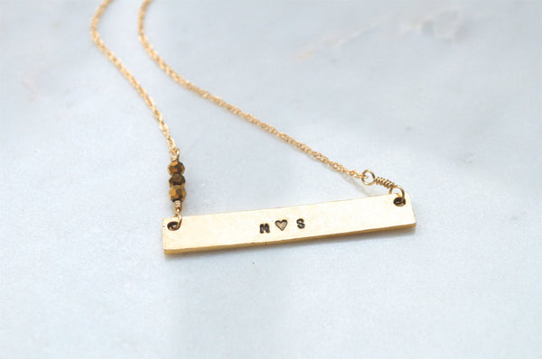 Couples Initials Necklace