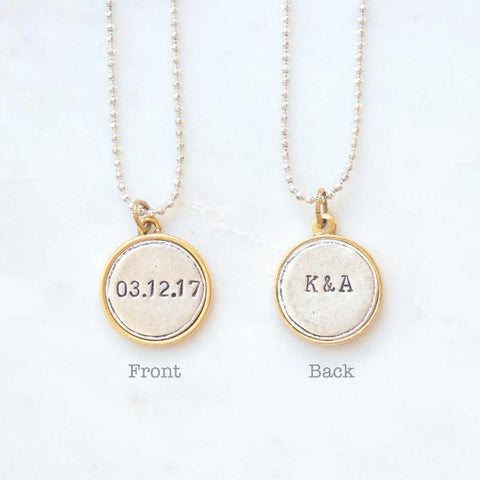 Wedding Date Necklace