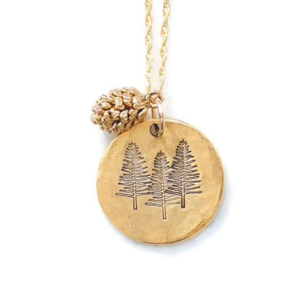 Pine Tree Necklace by Olive Bella