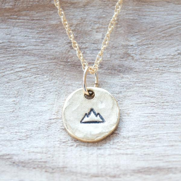 Mountain Necklace by Olive Bella.  Shop now: https://olivebella.com