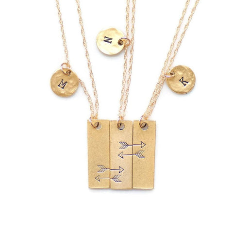 Friendship Necklace for 3 by Olive Bella.  Shop now: https://olivebella.com