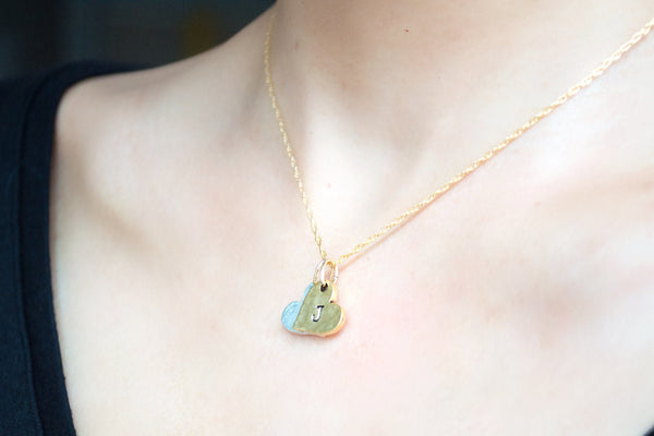 Hearts Initial Necklace