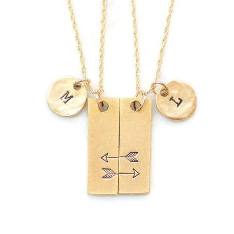 Friendship Necklaces for 2 by Olive Bella.  Shop now: https://olivebella.com