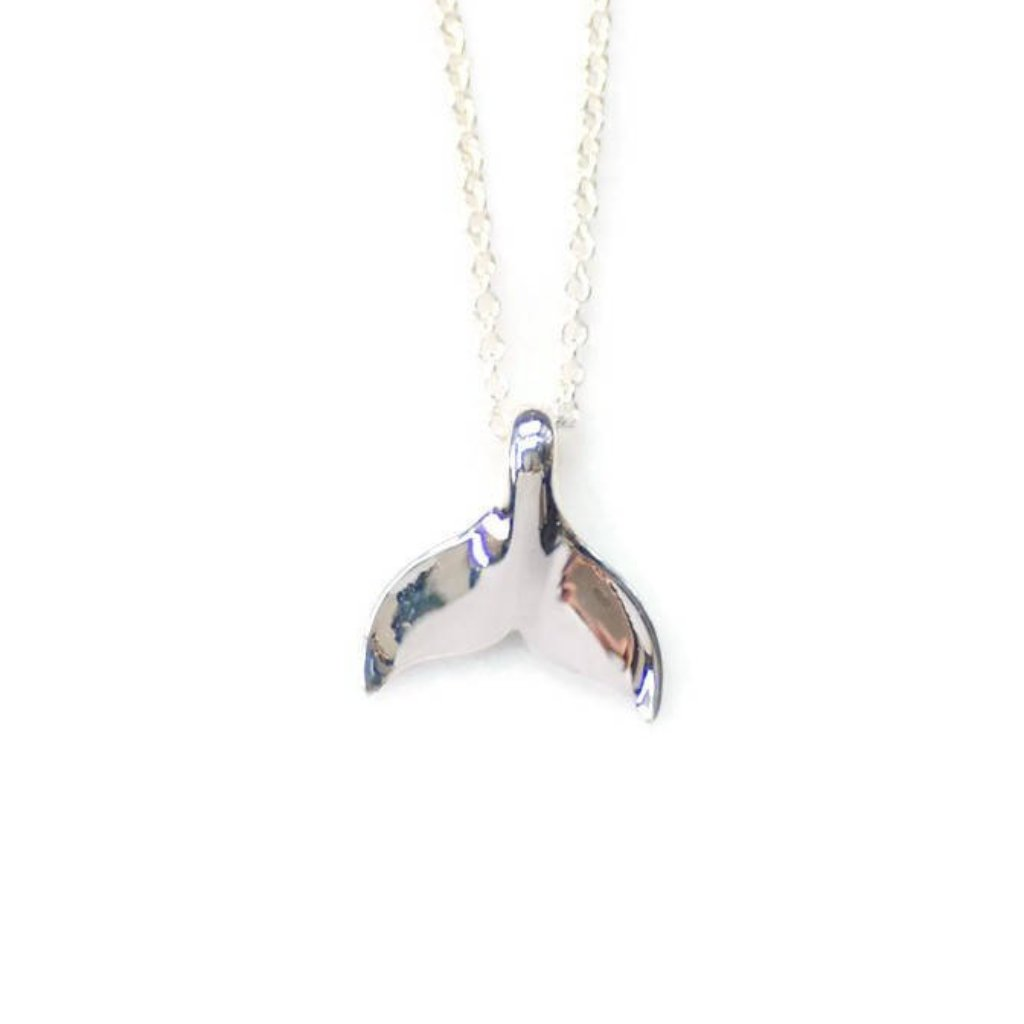 Whale Tail Necklace by Olive Bella.  Shop now: https://olivebella.com