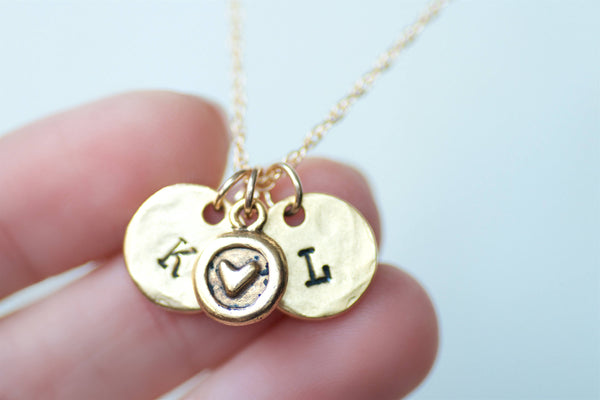 Initials heart Necklace