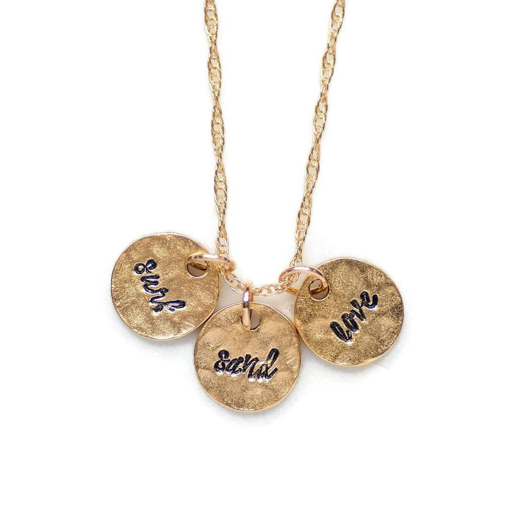 Surf Sand Love Necklace by Olive Bella.  Shop now: https://olivebella.com