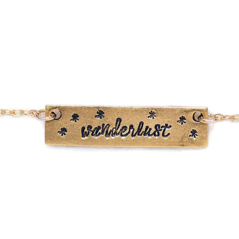 Wanderlust Bar Necklace by Olive Bella.  Shop now: https://olivebella.com
